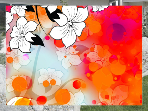 Tropical Flower Motif