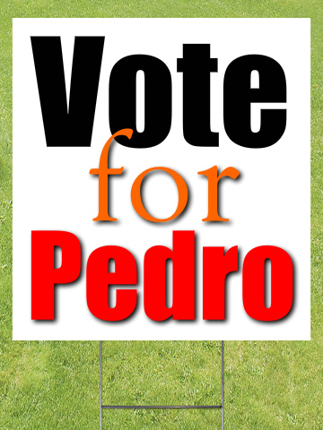 Vote For Sign