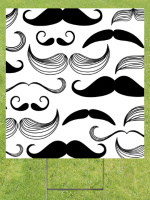 Black and White Mustaches Image